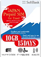 Prepaid SIM Card 10GB Japan (15days)