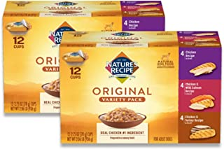 Nature's Recipe Wet Dog Food, Variety Pack, 2.75 Ounce Cup (Pack of 24)