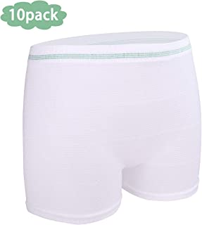 Mesh Underwear Postpartum Women Disposable Panties High Waist Post Surgical Recovery Light Support Breathable Brief (10 Pack) (Medium)