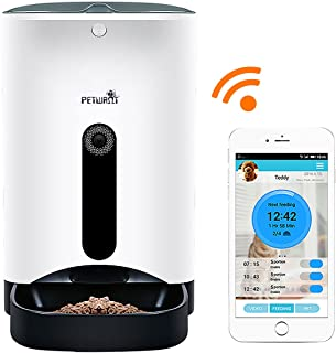 Jempet Petwant Smartfeeder Automatic Pet Feeder, Pet Food Dispenser For Dogs And Cats, Controlled By Iphone, Android Or Other Smart Devices