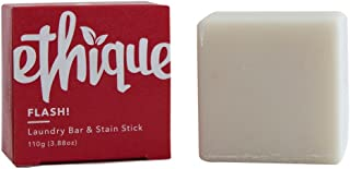 Ethique Eco-Friendly Laundry Bar & Stain Stick, Flash! Sustainable Natural Laundry Bar to Wash Clothing, Dishes & Even Hands, Plastic Free, Vegan, Plant Based, 100% Compostable and Zero Waste, 3.88oz