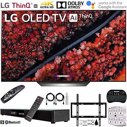 LG OLED77C9PUB 77' C9 4K HDR Smart OLED TV w/AI ThinQ (2019) + Deco Gear Home Theater Surround Sound...