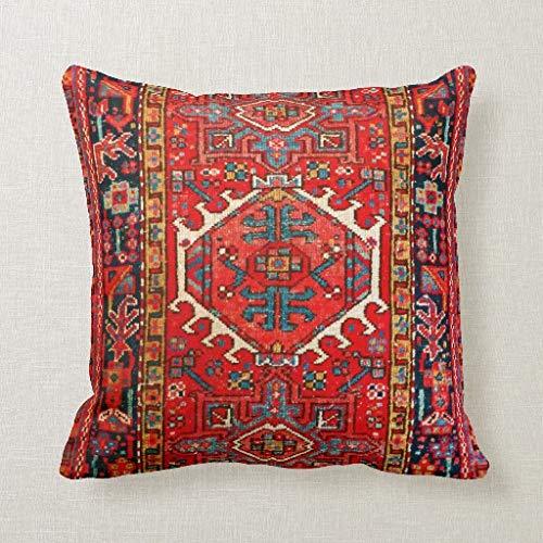 CELYCASY Persischer Teppich Orientalisches Teppich-Muster von Iran, dekorativer Kissenbezug für Sofa, Schlafzimmer, Lendenwirbelsäule, 45,7 x 45,7 cm
