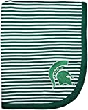 Creative Knitwear Michigan State University Spartans Collegiate Striped Baby and Toddler Blanket
