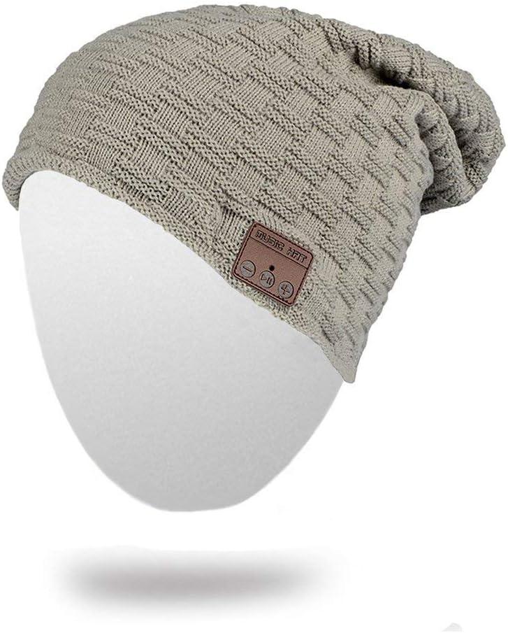 BearsFire Wireless Bluetooth Beanie Hat Headphone Stereo Speaker Mic Hands-Free Earphones Cap Unisex Winter Warm Thick Skull Knit Music Hat Gifts for Men Women Ourdoor Sports Skiing Skating Hiking