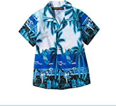 Yiwa Traje de baño, La playa floja de la verano-verano del niño viste la camisa hawaiana casual del estilo de la moda