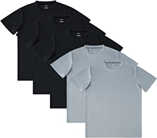 SAYFINE 5 Pack Plain Atheletic Shirts for Men, Mens T Shirt Tee Shirts with Crew Neck