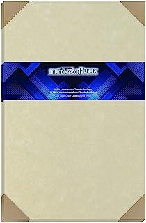 "50 Natural Parchment 60# Text (=24# Bond) Paper Sheets - 11"" X 17"" (11X17 Inches) Tabloid|Ledger|Booklet Size - 60 Pound i... photo"