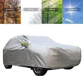 Dandelionsky Autoabdeckung, wasserdicht, strapazierfähig, extra groß, atmungsaktiv, mit Reißverschluss, Regen, Schnee, Sonne, Frost, für alle Wetterbedingungen, 530 x 200 x 190 cm
