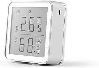 kangle Sensor de temperatura e umidade para casa inteligente, higrômetro termômetro sem fio WIFI 2.4G, monitor de umidade ...