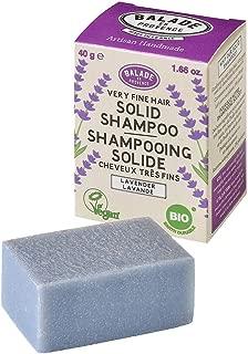 Balade En Provence Women's Handmade Organic Solid Shampoo Bar, Lavender - Eco Friendly, Nourishing, No Sulfates, Vegan Certified, 1.41 oz