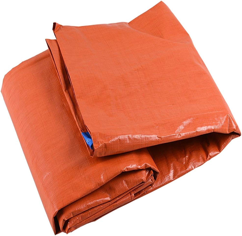 GUZP Blau-Orangefarbene Plane, wasserdichtes Poncho-Sonnenschutzmittel Weiches, Robustes Licht und einfach zu Falten Regendicht gegen Kälte und Korrosion, 160g   m2 (größe   10x12m) B07L6GSG2K  Geschwindigkeitsrückerstattung