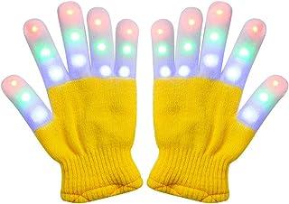 Amazer Kids Light Gloves Children Finger Light Flashing LED Warm Gloves with Lights for Birthday Light Party Christmas Xma...
