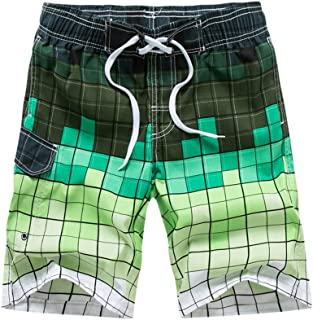 TIANMI Men's Printed Beach Shorts,Comfortable Casual Quick Dry Beachwear Loose Bandage Swim Trunks