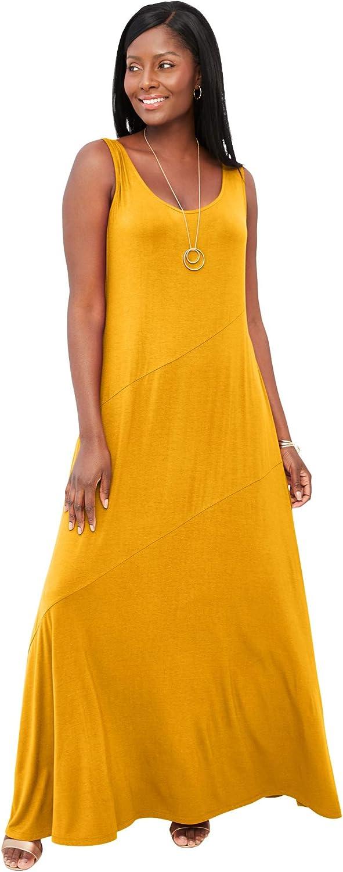 Jessica London Women's Plus Size Tank W Maxi セール品 直営店 - 26 Dress Sunset