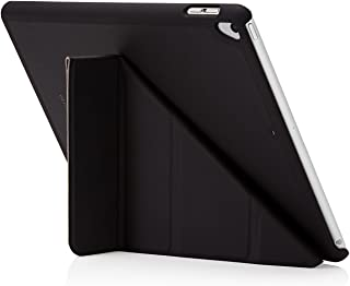 "Pipetto Origami iPad Case 9.7"" (2017/2018) 6th Generation & Air 1 with 5 in 1 Stand & auto Sleep/Wake Function Black"