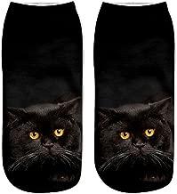 iYBUIA New Popular Funny Unisex Short Socks Novelty 3D Cat Printed Anklet Socks Casual Socks