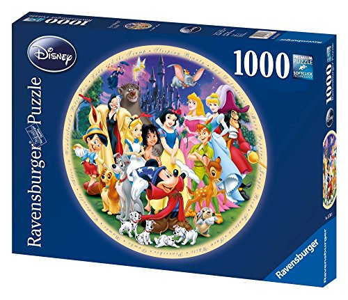 Ravensburger 157846 Puzzel Wonderful World Disney Rond - Legpuzzel - 1000 Stukjes