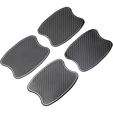 Exterior Paint Protection Film Guards Adhesive Protector Fashion Car Stickers Car Accessories SILKBON 8 Pcs Universal Carbon Fiber Texture Auto Car Door Handle Cup Scratch Protection Films Black