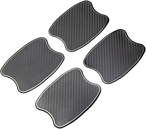 TANGSEN 4Pcs Universal Real Carbon Fiber with 2mm Twill Woven Texture Door Edge Guard Paint Scratch bumper protector Anti door slam Personalized Protective Pad Sticker Cover Protective Status Film