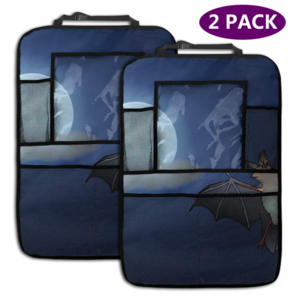 2 Pack Car Backseat Organizer Easy-to-use Bat Sale Moonlight Clouds Moon An Night
