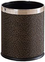 JXXDDQ Double Dust Container Leather Lid Living Room Without Lid Kitchen (Color : Black)