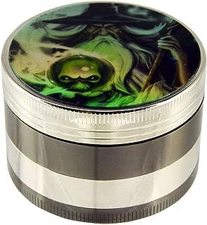 4-Piece Aluminum Herb & Spice, Tobacco Grinder Smoker's Tool - Wizard Design