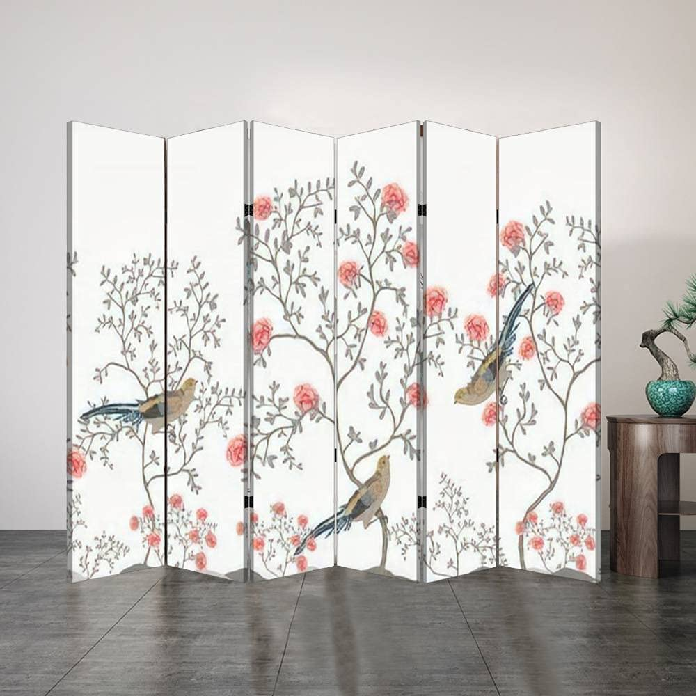6 List price Panel Office Folding Screen Chinoi Decorative Beautiful High material Exotic