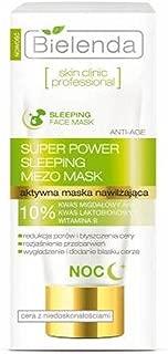Bielenda Skin Clinic Professional Correcting Sleeping Mask for Skin with Imperfections (AHA Mandelic Acid, PHA Lactobionic, Vitamin B3) 1.7 oz