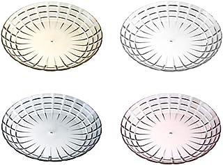WINOMO サラダプレート 皿 クリスタルプレート ディッシュプレート クリア 直径27CM 割れない皿 トライタン アウトドアなどにも 4枚セット (大)