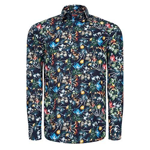 Preisvergleich Produktbild Signum Herrenhemd - Lieblingshemd Edles ICON Druckhemd - Classic Fit - Bunt - Größe - XXL