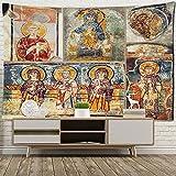 KHKJ Imperium Romanum Tapiz con Imagen Rey Justiniano dinastía Retro Tela de Pared tapices de Pared Boho decoración del...