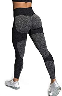 Womens High Waisted Leggings, Seamless Tight Workout Leggings Yoga Pants Tummy Control Sports Compression