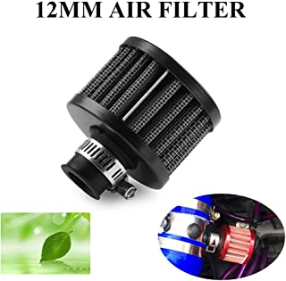 RYANSTAR 12mm Air Filter Cold Air Intake Filter Breather Turbo Vent Universal Air Intake Filter Cleaner Black for car and Motorcycle
