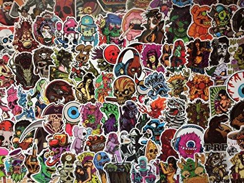 Satz Aufkleber (20,50,100) Stücke, Rock, dunkel, Punk, Blut, Horror, Terror, Todeskopf, Skateboard, sexy, sticker (20)