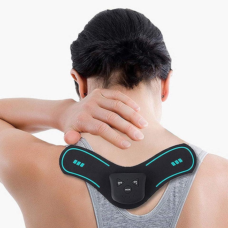 周り呪われた二層快適な多機能インテリジェント充電の肩と首のマッサージ器ミニパルスショルダーマッサージ -疲れを解消します (色 : ブラック, サイズ : ワンサイズ)