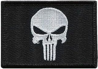 Titan One Europe - Black Punisher Skull Military Morale Patch Castigador Parche Termoadhesivo