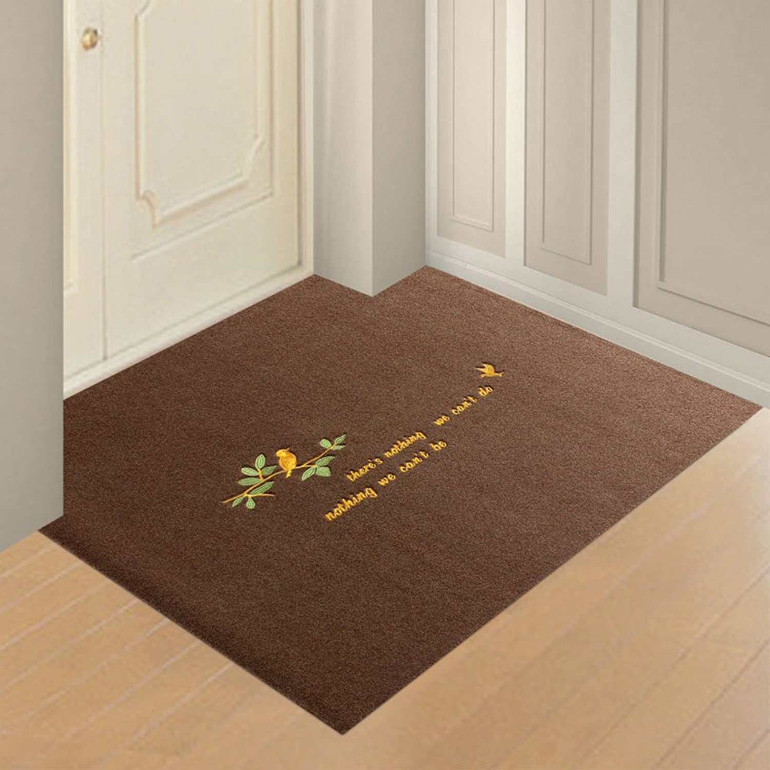 Doormats Water-Absorption Door mat Indoor mat for Bathroom Kitchen -O 100x160cm(39x63inch)