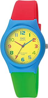 Q&Q Men's Yellow Dial Silicone Band Watch - VQ86J010Y