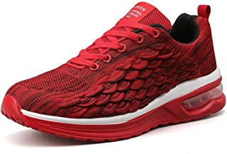 DAVAS Men's Breathable Flying Weaving Mesh Athletic Running Walking Gym Shoes Casual Sneakers