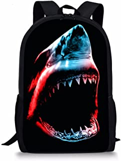 Shark School Satchel Bookbag Backpack Elementary Student Shoulder Bag