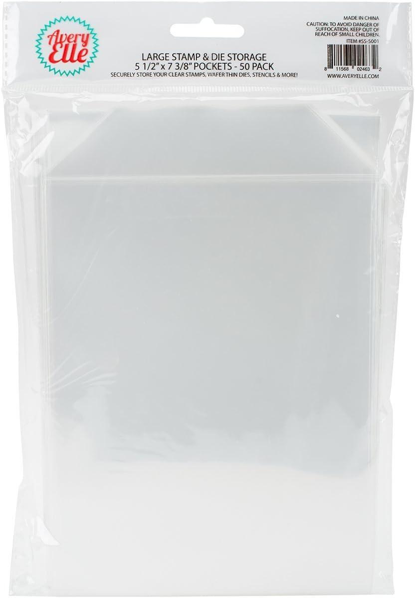 Stamp /& Die Clear Storage Pockets Straight Flap 5 5//8 x 7 3//8