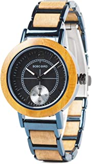 Wood Watches for Women Casual Fashion Japan Movement...
