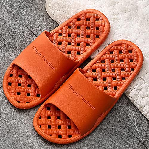 MDCGL Zapatos De Piscina Casa Hogar Zapatillas de baño para baño Interior para Hombre y Mujer, Chanclas para Dormitorio, Hotel, casa de Familia, Chanclas, Deslizador para Mujer, Naranja, EU37-38