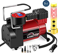 Smashier Portable Air Compressor Tire Inflator – 12V DC Digital Pump with Gauge for..