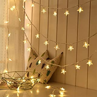 Yghfd 40 LED 14 FT Star String Lights Battery Operated, Fairy String Light for Home, Ramadan Party, Christmas, Wedding, Ga...