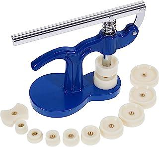 MMOBIEL - Kit Complet (13 pièces) Compatible avec réparation de Montres, avec Potence/Presse d'horloger et 12 Tasseaux Inclus
