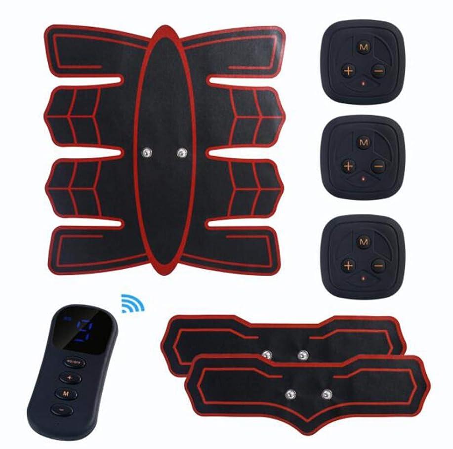 コードレスアーティキュレーション一致GWM マッスルトレーナー腹部マッサージャー、腹部電気刺激装置EMS腹部トレーナー、ワイヤレス電子フィットネスマッサージャーセット腹部脚の男性と女性