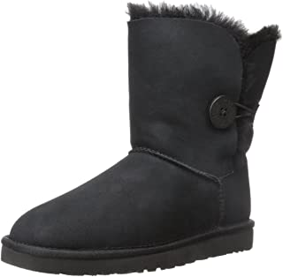 UGG Bailey Button 5803 - Botas Planas Mujer, Negro (Black), 37