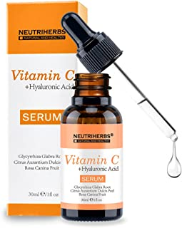 NEUTRIHERBS Vitamin C Serum, 20% Vitamin C Best Skin Whitening Moisturizing Face Treatment Serum 30ml/pc=1 fl oz